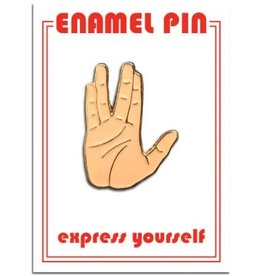 The Found Enamel Pin Vulcan Salute