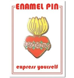 The Found Enamel Pin Burning Heart