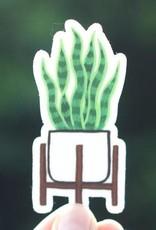 Cactus Club Sticker Snake Plant