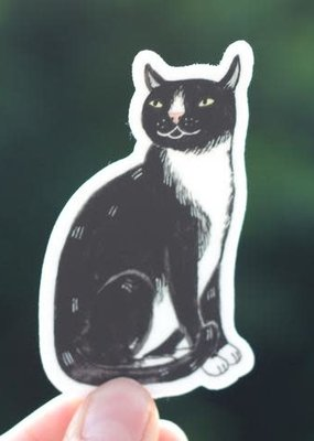 Cactus Club Sticker Black Cat