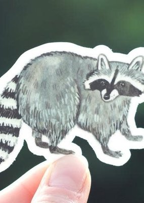 Cactus Club Sticker Raccoon
