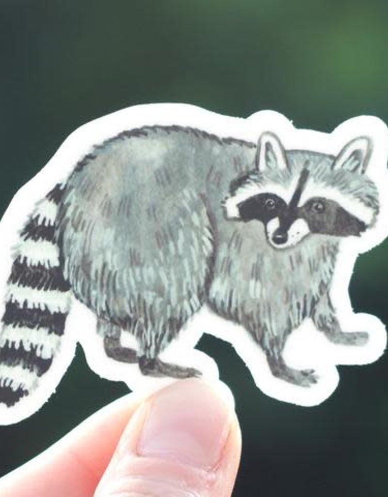 Cactus Club Sticker Raccoon