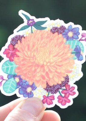 Cactus Club Sticker Chrysanthemum