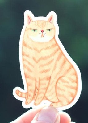 Cactus Club Sticker Orange Cat
