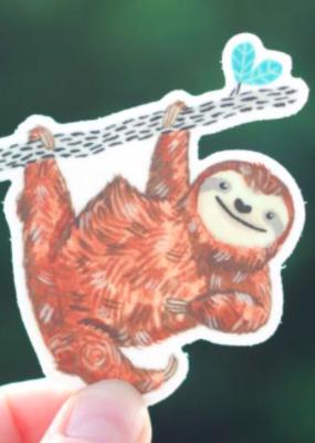Cactus Club Sticker Sloth