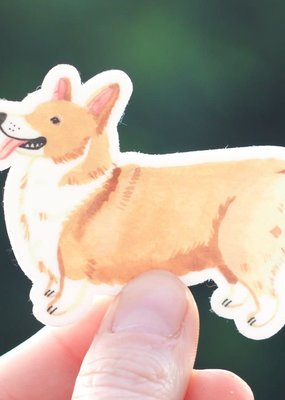 Cactus Club Sticker Corgi