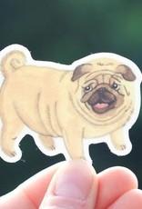 Cactus Club Sticker Pug