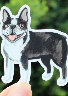 Cactus Club Sticker Boston Terrier
