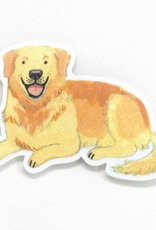 Cactus Club Sticker Golden Retriever
