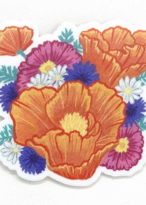 Cactus Club Sticker California Poppy