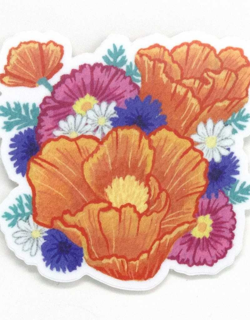 Cactus Club Sticker California Poppy