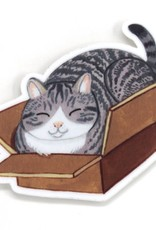 Cactus Club Sticker Box Cat