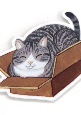 Cactus Club Sticker Box Cat