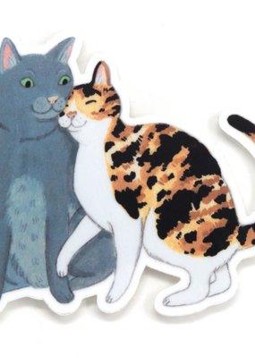 Cactus Club Sticker Cat Pair