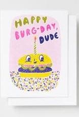 Yellow Owl Workshop Card Burger Birthday