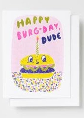 Yellow Owl Workshop Card Burger Birthday