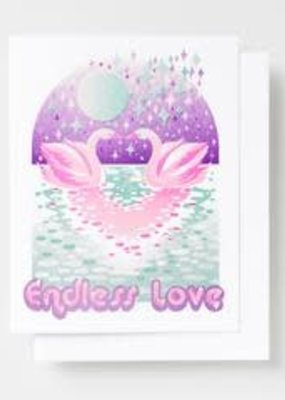 Yellow Owl Workshop Card Endless Love Swans