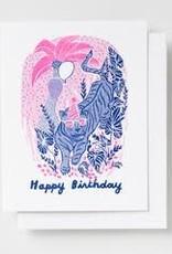 Yellow Owl Workshop Card Tiger Birthday