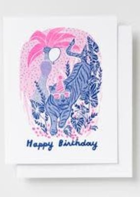 Yellow Owl Workshop Card Tiger Birthday