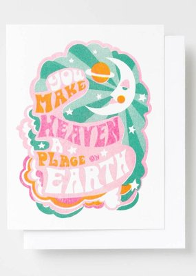 Yellow Owl Workshop Card You Make Heaven A Place On Earth