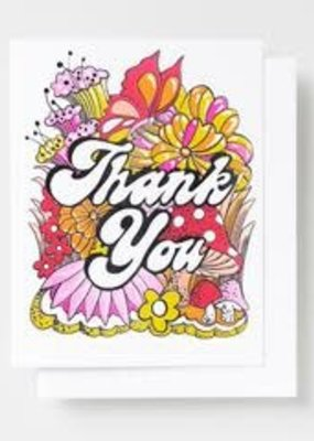 Yellow Owl Workshop Card Thank You Floral