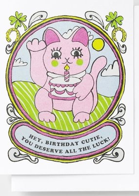 Yellow Owl Workshop Card Birthday Cutie