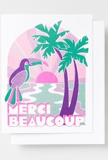 Yellow Owl Workshop Card Tropical Merci Beaucoup