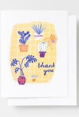 Yellow Owl Workshop Card Thank You  Plants
