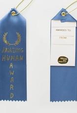 Yellow Owl Workshop Award Ribbon Note Amazing Human Award