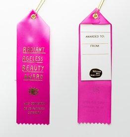 Yellow Owl Workshop Award Ribbon Note Ageless Beauty Award