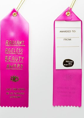 Yellow Owl Workshop Award Ribbon Note Ageless Beauty Award