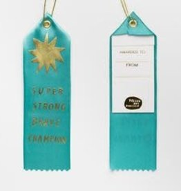 Yellow Owl Workshop Award Ribbon Note Super Strong Brave Champion