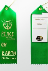 Yellow Owl Workshop Award Ribbon Note Peace on Earth Participant