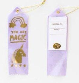 Yellow Owl Workshop Award Ribbon Note You are Magic Unicorn