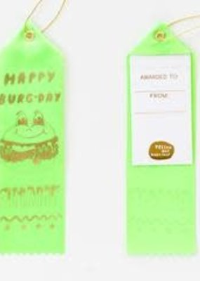 Yellow Owl Workshop Award Ribbon Note Happy Burgday Champ