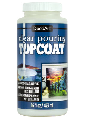 DecoArt Pouring Topcoat 16 oz. Clear