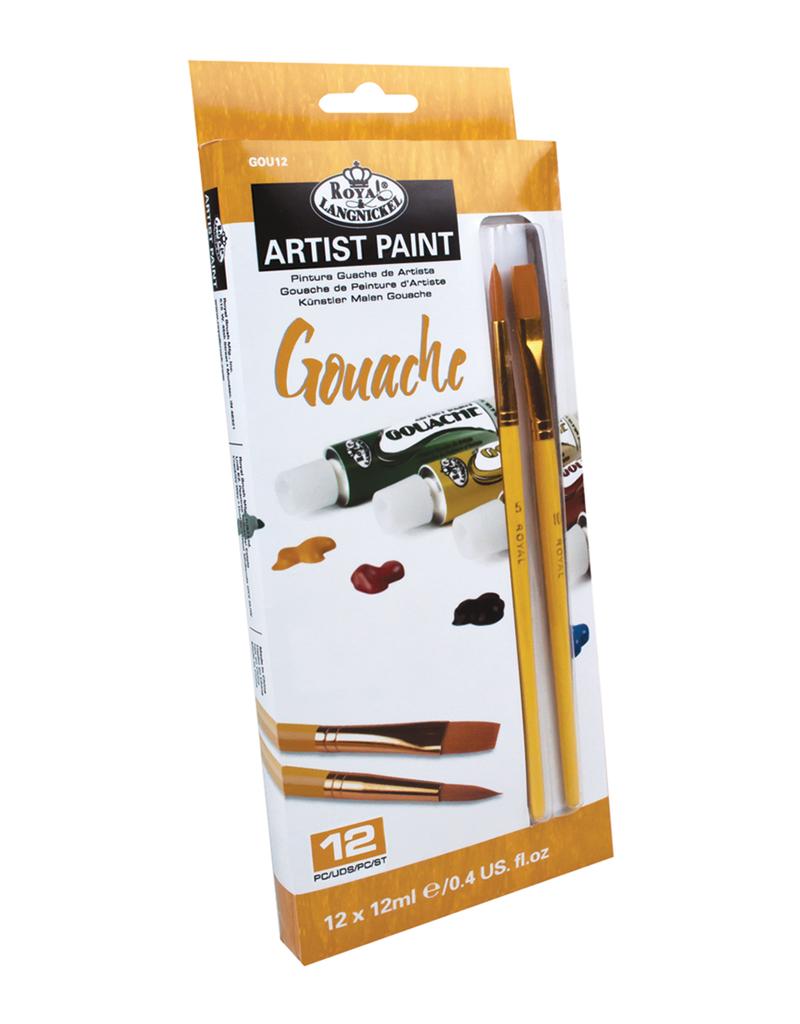 Royal Brush Gouache Artist Paint 12 Color Set 12 ml Tubes