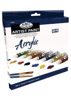 Royal Brush Acrylic Artist Paint 24 Color Set 12 ml Tubes