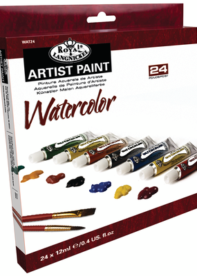 Royal Brush Watercolor Artist Paint 24 Color Set 12 ml Tubes