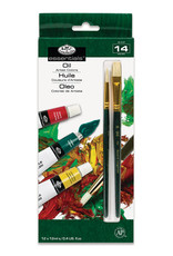 Royal Brush Oil Artist Paint 12 Color Set 12 ml Tubes