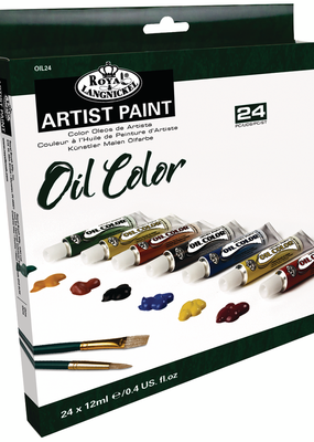 Royal Brush Oil Artist Paint 24 Color Set 12 ml Tubes