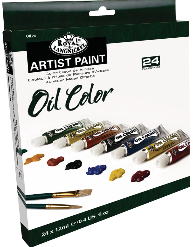 Royal Brush Oil Artist Paint 24 Color Set 12 ml Tubes
