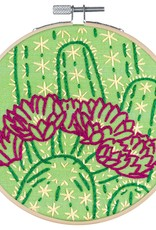 Pop Lush Embroidery Kit Blooming Cactus