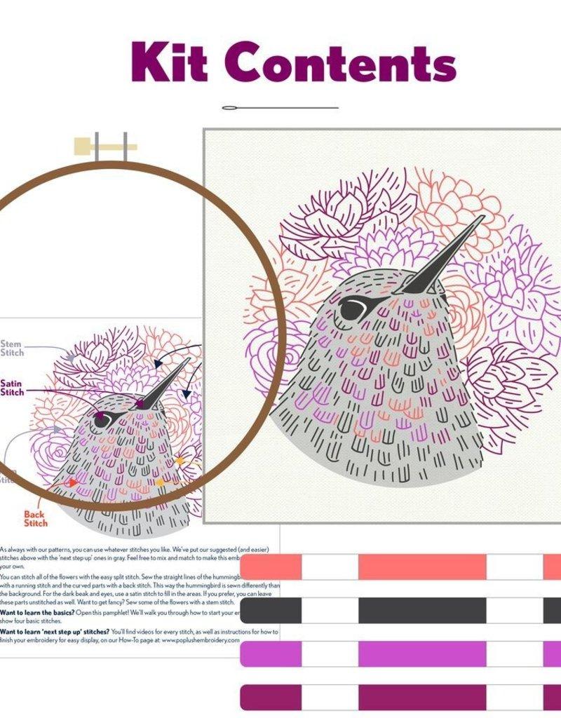 Pop Lush Embroidery Kit Blossom Hunter