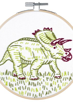Pop Lush Embroidery Kit Dino-Mite