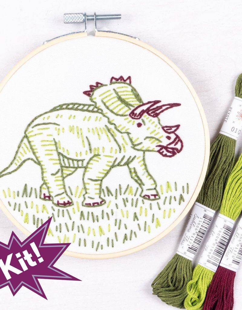 Pop Lush Embroidery Kit Dino-Mite