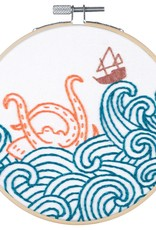 Pop Lush Embroidery Kit The Kraken