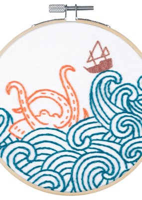 Pop Lush Embroidery Kit The Kraken