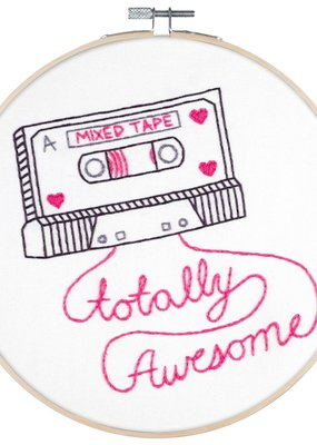 Pop Lush Embroidery Kit Mixed Tape