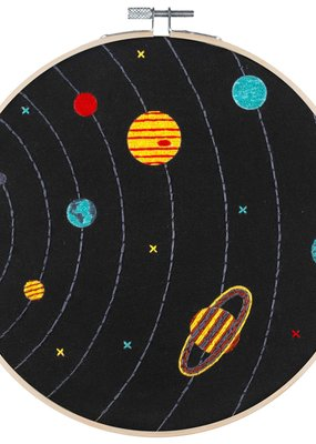 Pop Lush Embroidery Kit Solar System